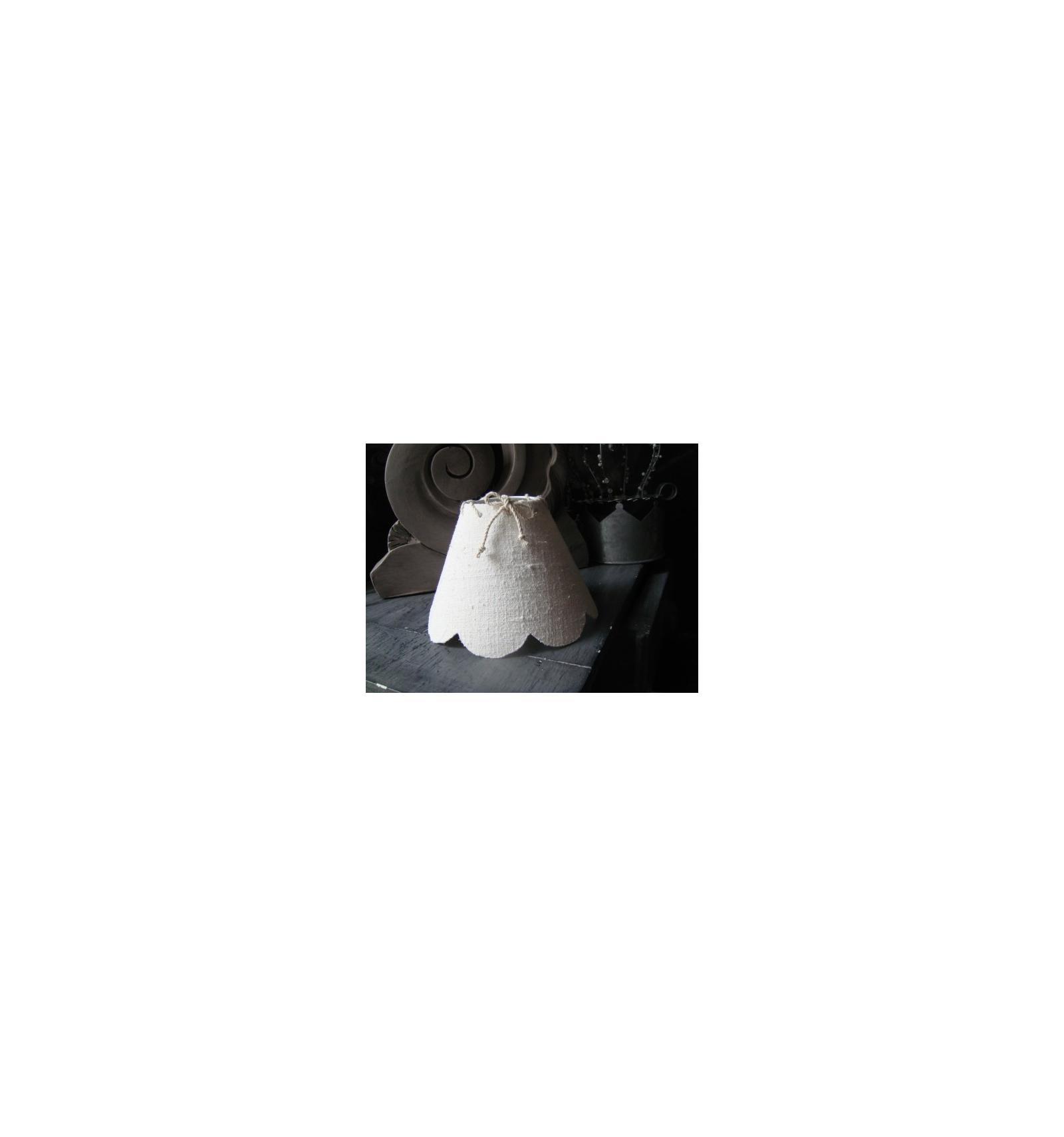 abat jour festonn petit mod le lin ancien blanchi belette en compagnie. Black Bedroom Furniture Sets. Home Design Ideas