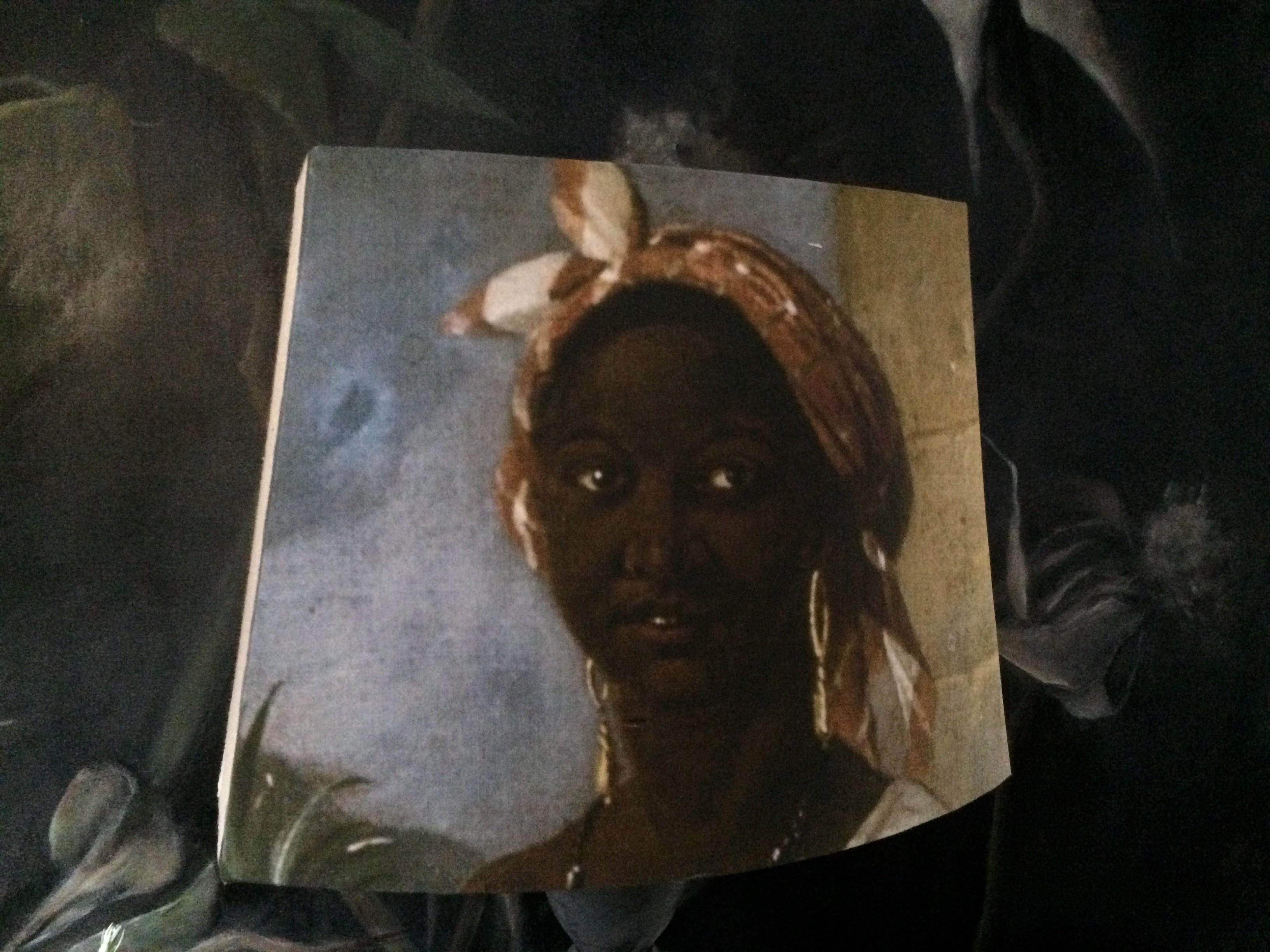 Abat jour pans coupés portrait féminin XVIIIe