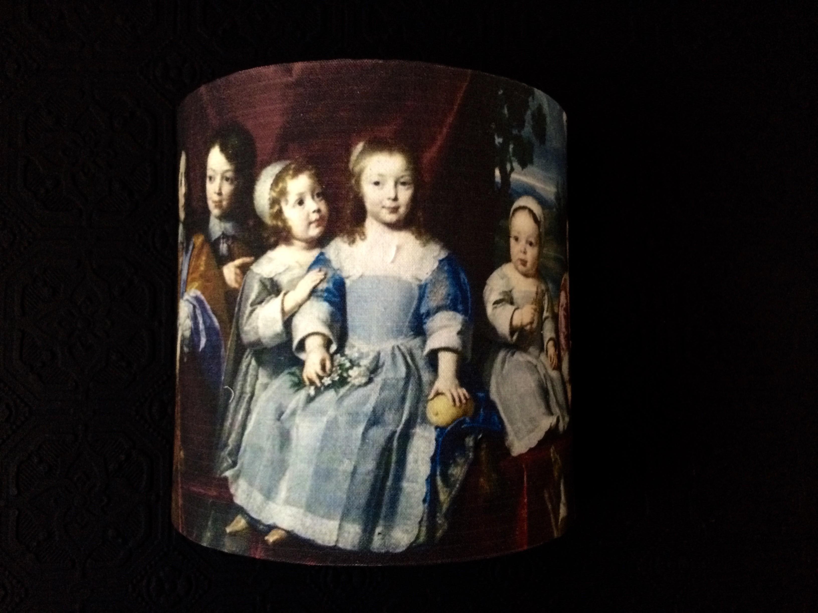 Abat jour demie lune d'après une toile du XVIIe de Philippe de Champaigne