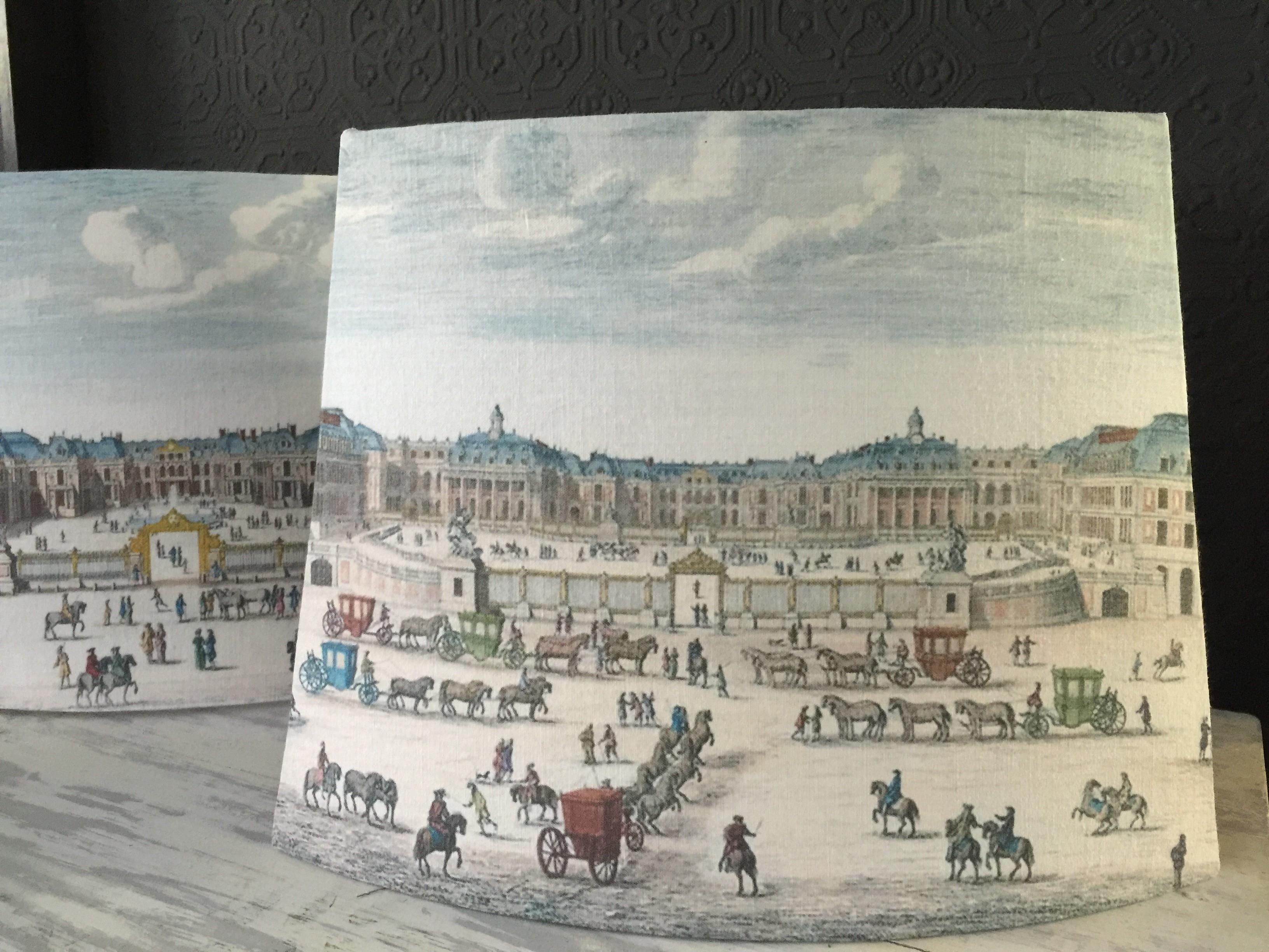 Abat jour pans coupés Versailles XVIIe II