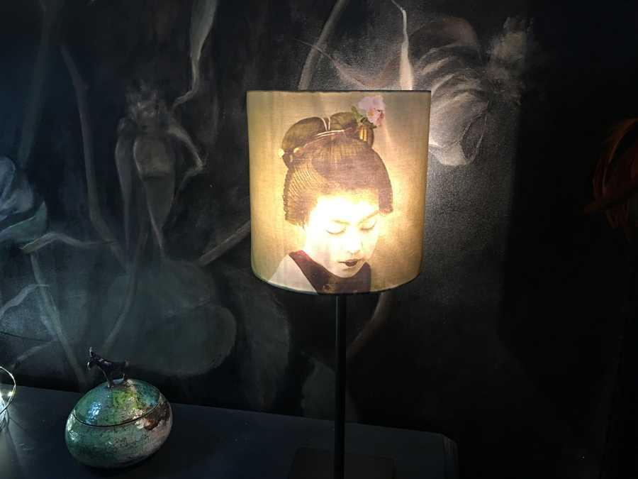 """Abat jour demi lune """"geisha"""""""