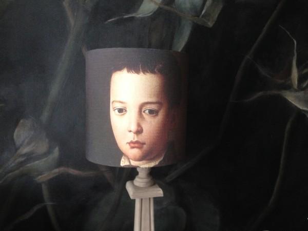 Abat jour écran portrait François 1er de Médicis enfant